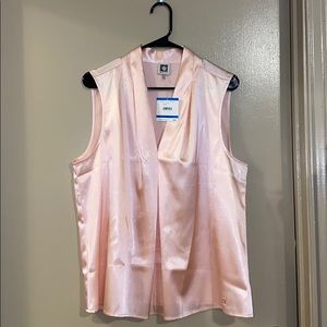 Anne Klein sleeveless top in pale blush